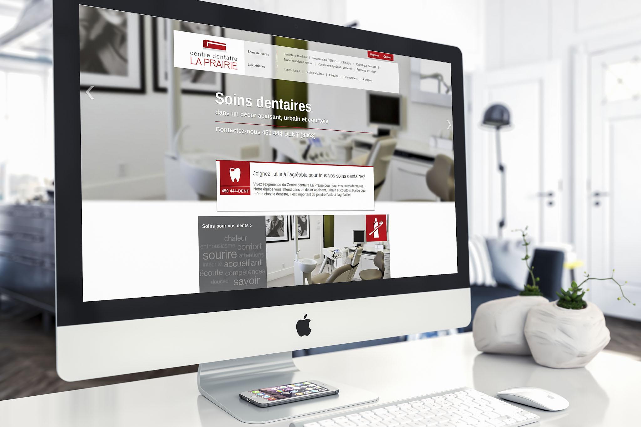 Site Web - Centre Dentaire La Prairie