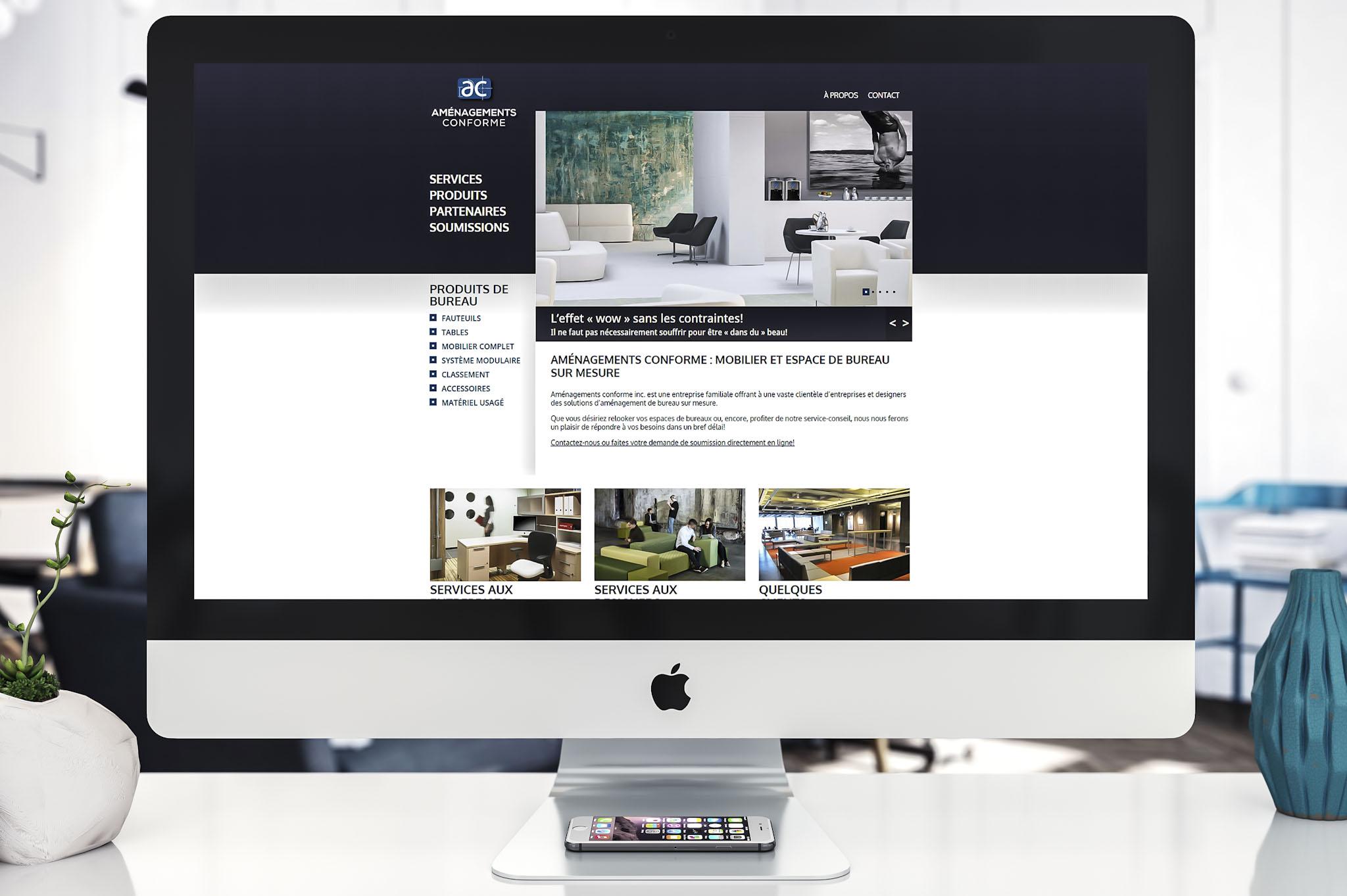Site Web - Aménagements conforme