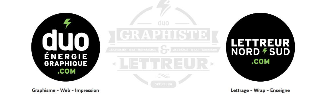 Agence de communication à Bécancour Duo Énergie Graphique - Lettreur Nord-Sud