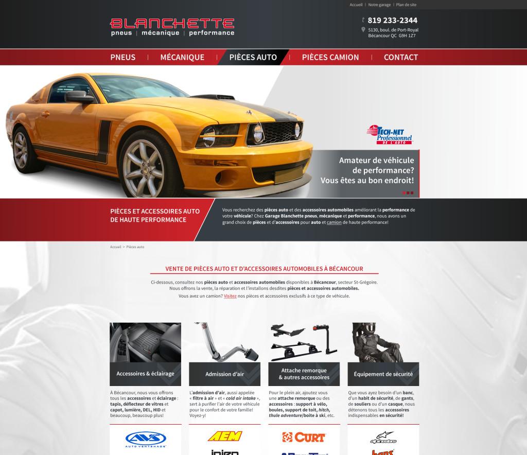 Site Web Garage Blanchette Bécancour