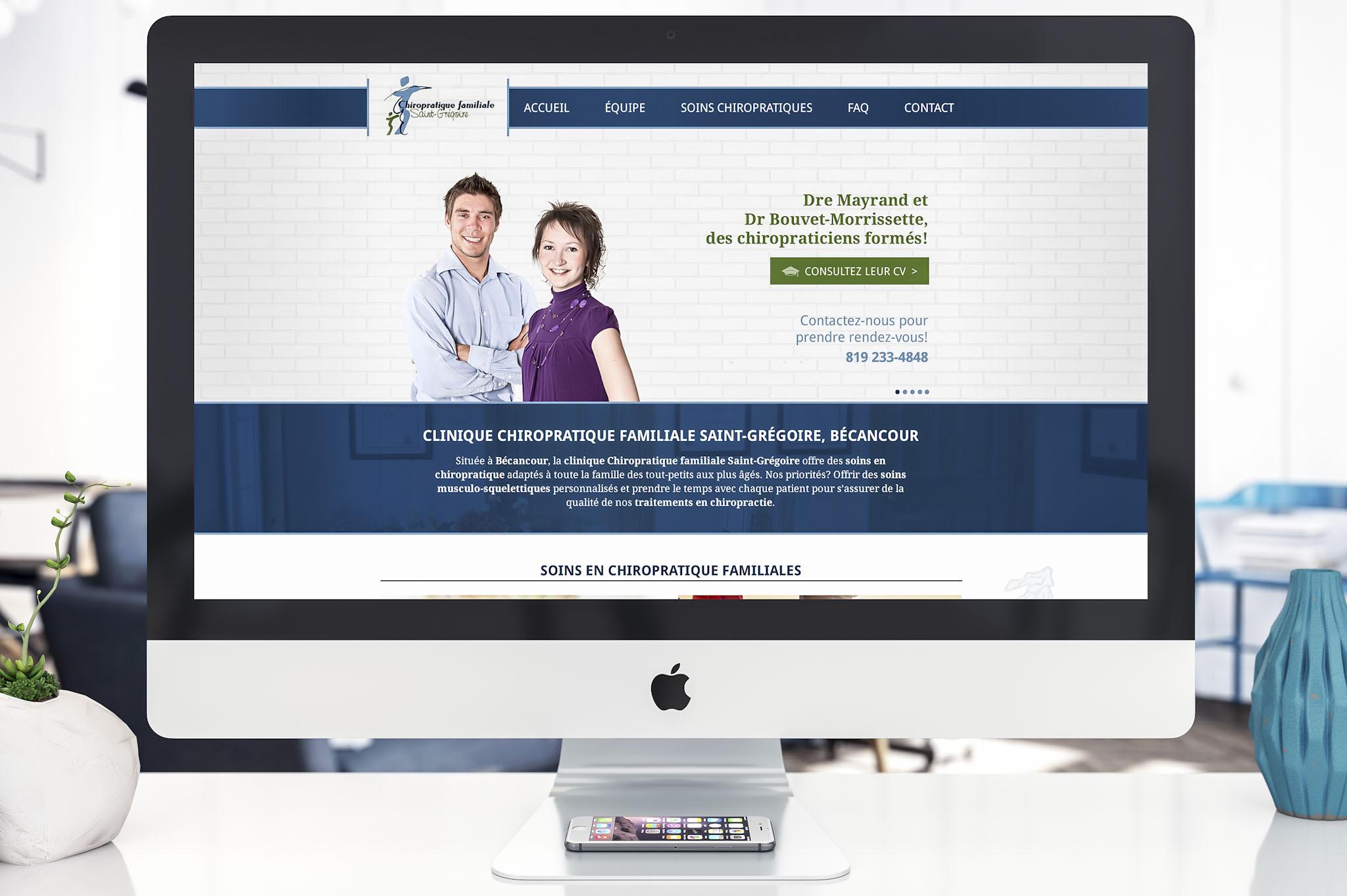 Site Web - Chiropratique familiale St-Grégoire