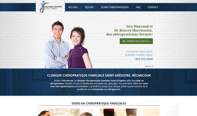 Site Web responsive - Duo Énergie Graphique
