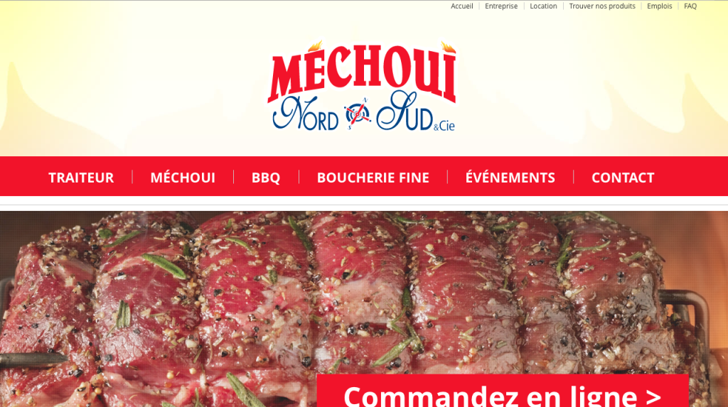 Refonte site Web Méchoui Nord Sud - Duo Lettreur Nord-Sud