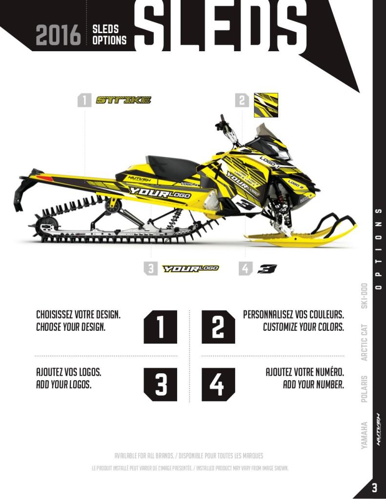 commande kit graphique motoneige - Duo Lettreur Nord-Sud
