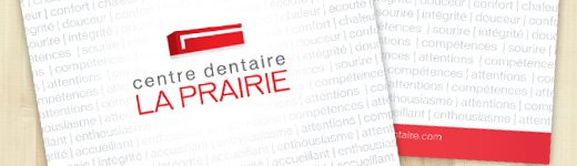 Pochette corporative Centre dentaire La Prairie