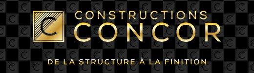 Slogan Constructions Concor réalisé par Duo Énergie Graphique Lettreur Nord-Sud