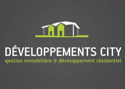 Logo et cartes d'affaires – Identité corporative Développements City