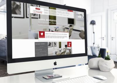 Rédaction, stratégie Web & design Web – Centre dentaire La Prairie