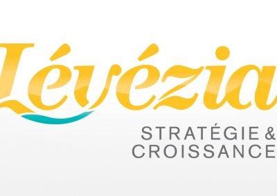 Conception de l'identité d'entreprise de Lévézia