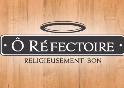 Identité – logo et cartes d'affaires – Ô Réfectoire Nicolet