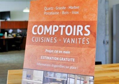 Affiche promotionnelle – Comptoir direct Bécancour