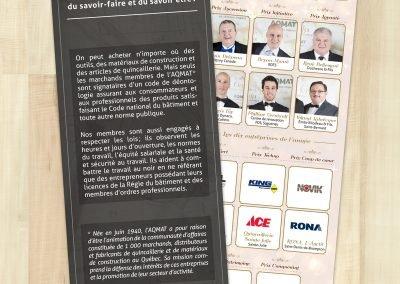 Création de la publicité du Salon National de l'habitation (AQMAT)