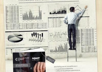 Promotions publicitaires imprimées pour l'AQMAT