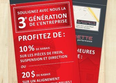 Encart pour Blanchette pneus, mécanique et performance