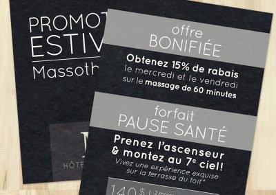 Promotion imprimée pour Hôtel Montfort (publicité imprimée)