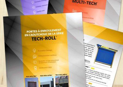 Feuillets imprimés pour l'entreprise Indotech