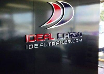 Création enseigne intérieure 3D – Idéal Cargo