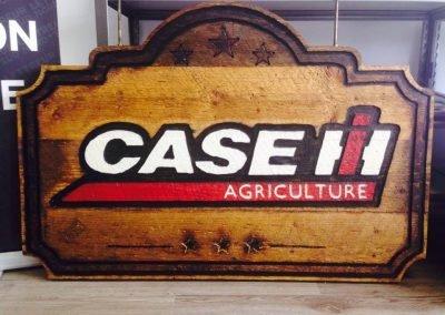 Enseigne extérieure en bois pour Case IH