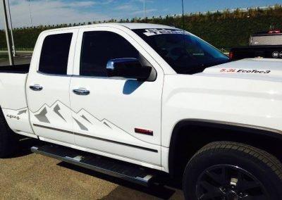 Lettrage camion GMC – Auger automobile Nicolet