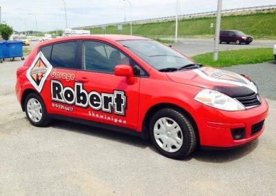 Lettrage de véhicule pour Garage Robert