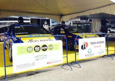 Grand prix de Trois-Rivières (GP3R) : Lettrage et pancarte