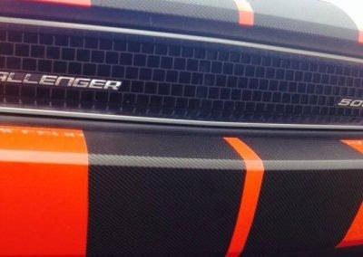 «Stripes» fibre de carbone – Challenger SRT8