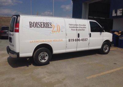 Wrap complet sur la camionnette des Boiseries 2.0