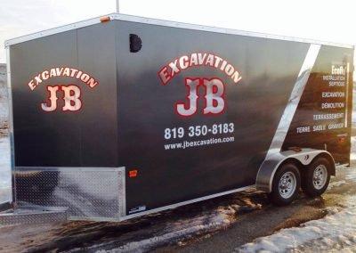 Vinyle sur remorque pour Excavation JB (wrap complet)