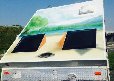Recouvrement de vinyle complet pour caravane