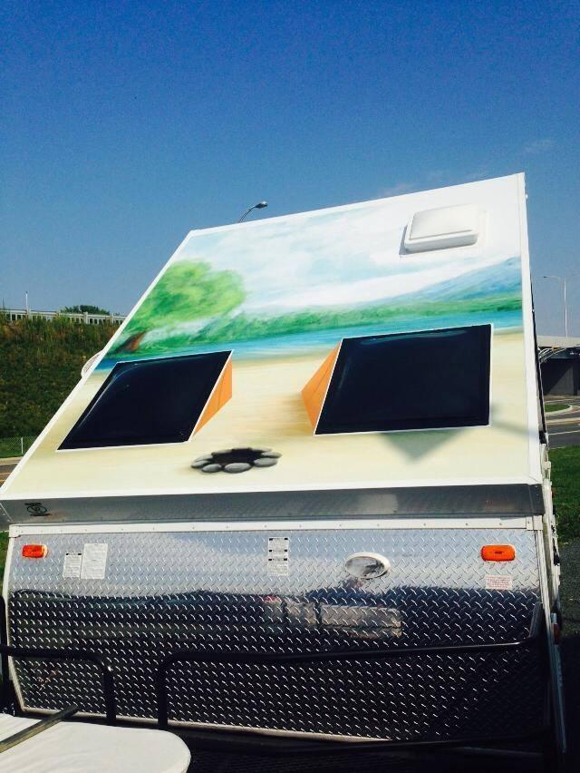 Recouvrement de vinyle complet pour caravane duo for Recouvrement de patio en vinyle