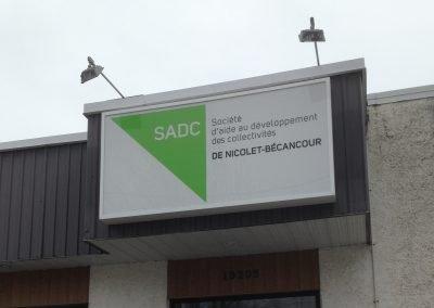Enseigne extérieure pour la SADC de Nicolet-Bécancour