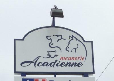 Enseigne extérieure éclairée – Meunerie acadienne