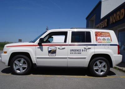 Lettrage vinyle – Camion des services d'urgence UQTR