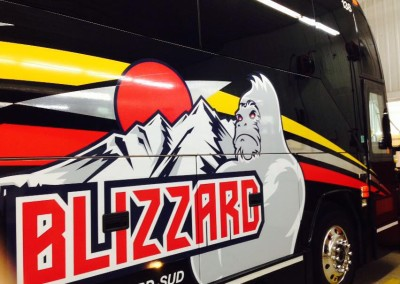 Lettrage autobus Helie St-Grégoire – Blizzard