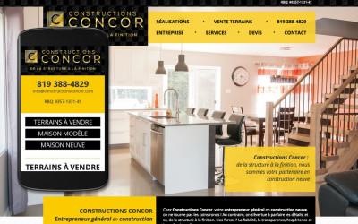 Sites Internet et mobile ainsi qu'une nouvelle image pour les Constructions Concor
