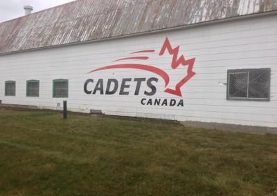 Découpe d'aluminium pour Cadets Canada