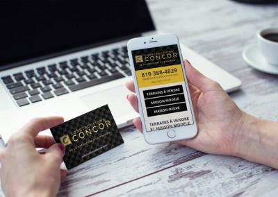 Site Web, site mobile & identité corpo – Constructions Concor
