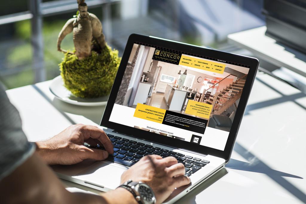 Site Web Responsive Construction Concor