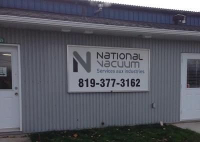 Enseigne extérieure – National Vacuum Bécancour