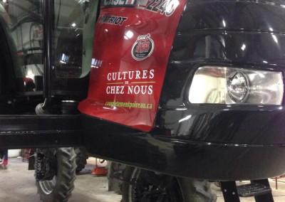 Wrapping d'un tracteur Case IH pour Les Cultures de chez nous
