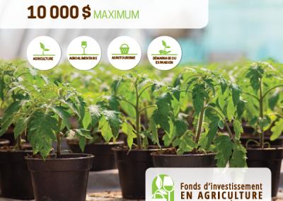 Image du Fonds d'investissement en agriculture MRC Bécancour