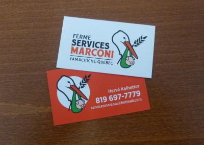 Création de logo – Ferme services Marconi