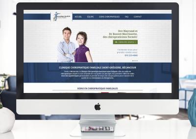 Site responsive – Chiropratique familiale Saint-Grégoire