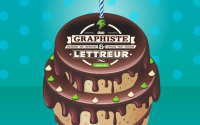 Duo Énergie Graphique – Lettreur Nord-Sud : 1 an déjà!