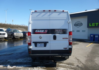 Habillage de la camionnette ProMaster Case IH