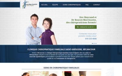 Un site Internet adaptatif pour Chiropratique familiale Saint-Grégoire!