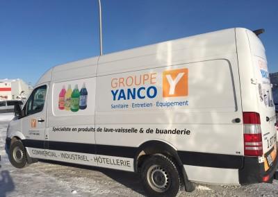Wrap de la camionnette du Groupe Yanco Saint-Grégoire