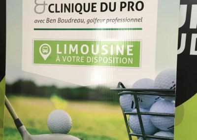 Affiche extérieure pour le Tournoi de golf AQMAT