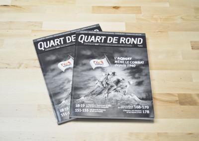 Mise en page du Quart de Rond Spécial 75 ans – AQMAT