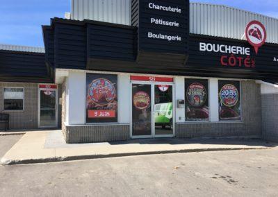 Affichage de vitrine – Boucherie Côté